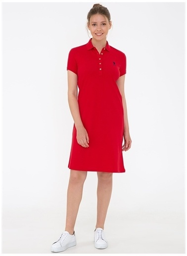 U.S. Polo Assn. U.S. Polo Assn. Elbise Kırmızı